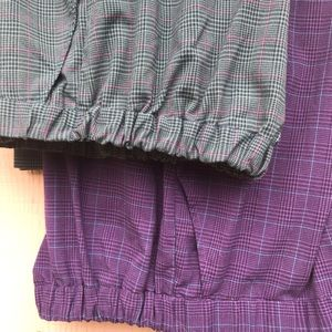 Roaman's plaid pants lot of 2 pairs